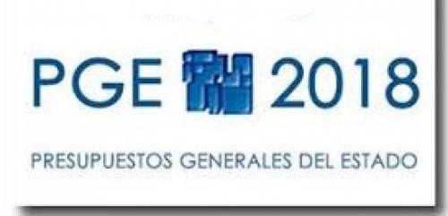 Presupuestos Generales Estado para 2018